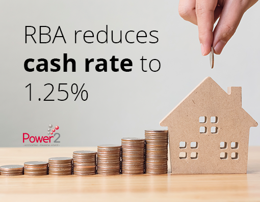 RBA reduces cash rate to 1.25%